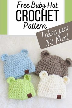 Crochet Hat Sizing, Crochet Baby Hat Patterns, Crochet Baby Beanie, Crochet Baby Clothes, Crochet Stitches, Baby Knitting, Blanket Crochet, Knitted Baby Hats, Crochet Baby Stuff