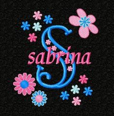 Flowers Monogram Font Alphabet - Machine Embroidery Designs