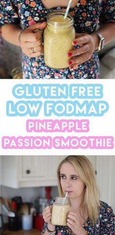 My gluten free pineapple passion smoothie recipe is super easy to make at home. It's dairy free and low FODMAP too.