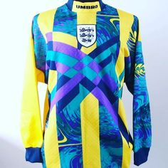 1996 England goalie shirt L - get ready for the Euros with this @Umbro classic from Fabric of Legends. Link in bio  #football #footballshirt #footballshirtcollective #umbro #umbrofootball #vintagefootball #euro96 #euro2016 #classicfootball