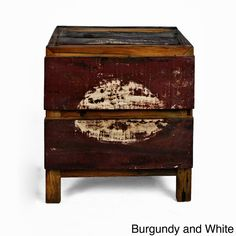Nice to see more and more reclaimed wood being used for furniture    Ecologica Reclaimed Wood 2 Drawer Night Stand  - Ecologica Home - $530.00