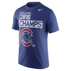 "Nike ""2016 World Series Champs"" (MLB Cubs) Men's T-Shirt Size Large - Clearance Sale"