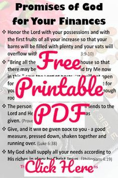 Promises of God Printable PDF | Words of encouragement