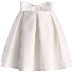 Extra Off Coupon So Cheap Chicwish Sweet Your Heart Jacquard Skirt in Ivory Size S rrp FF 14 Green Pleated Skirt, White Pleated Skirt, Bow Skirt, Orange Skirt, White Skirts, Waist Skirt, Jupe Midi Rose, Jupe Tulle Rose, Chicwish Skirt