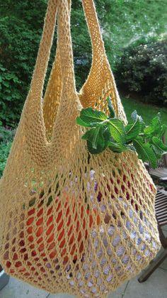 Free Knitting Patterns for Blankets Knitting Websites, Knitting Blogs, Loom Knitting, Crochet Market Bag, Crochet Tote, Knit Crochet, Diy 2019, Knitting Patterns, Crochet Patterns