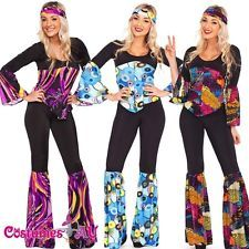 Ladies 60s 70s Retro Hippie Go Go Girl Disco Costume Hens Party Fancy Dress                                                                                                                                                     More