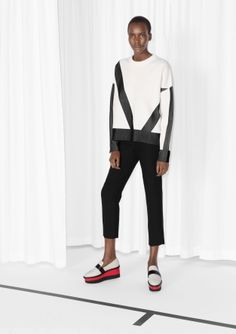 & Other Stories   Graphic Cotton Jaqcuard Sweater