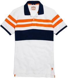 Chest Stripe Rugby Pique Polo