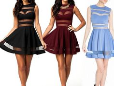Sexy round neck sleeveless dress #SF102326