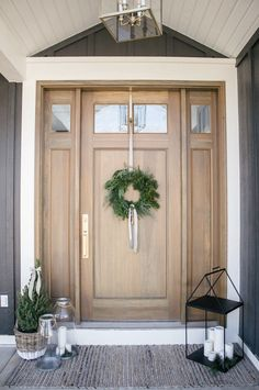 Welcome To My House, Cat Garden, How To Make Wreaths, Holiday Wreaths, Traditional House, Happy Holidays, Entrance, Workshop, Yard