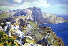 """ John Singer Sargent (1856-1925) Majorica (1908) watercolour and pencil on paper 35.56 x: 50.48 cm """