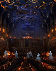 Halloween at Hogwarts Pottermore style.