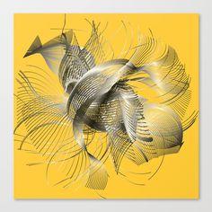 Abstract Fish Canvas Print MarinaUsmanskayaDigitalArt for home design