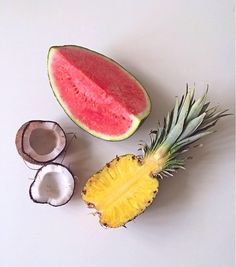 Photo: summer fruit. #watermelon #pineapple #coco