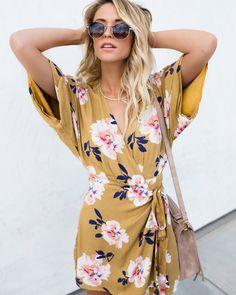 Courtney Floral Wrap Dress