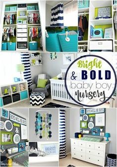 Simon's nursery   bright and bold baby boy nursery   navy green and gray little boy room   This is our Bliss   www,thisisourbliss.com
