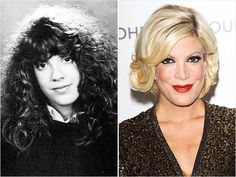 Tori Spelling9021-uh oh! Tori Spelling (once known as Donna Martin) had some seriously crazy curls and thick, heavy bangs as a freshman in high school. As a kid, Spelling didn't seem to have any control over her unruly hair. But now that she has four kids of her own, the reality-star mom is the master of her brood and her chic bob!