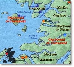 Then Macdonald   of clan ranald take their name from ranald the son of ...