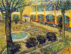 The Courtyard Of The Hospital At Arles Vincent Van Gogh Reproduction | 1st Art Gallery