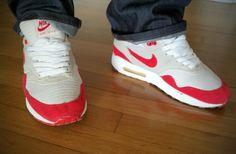 Nike Air Max One Quickstrike Red white & Grey - Ed. 2002 (restaured) by @saadstuff