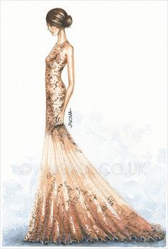 Alexander McQueen- Resort 2012. Watercolour on paper by Anoma Natasha Paleebut. ©ANOMA.CO.UK