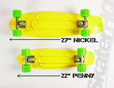 nickel compared to penny board - Google Search