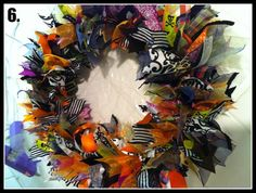 Halloween Wreaths Diy Halloween Ribbon Wreath Tutorial Mommy