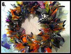 Halloween Wreaths Diy Halloween Ribbon Wreath Tutorial Mommy
