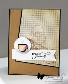 Handmade coffee card by Diana Nguyen using Sip and Savor and Better with You from Verve.  #vervestamps