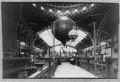 Paris Exhibition 1889: hot air balloons inside #balloons #exhibitions
