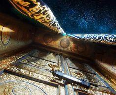 Ka`ba Door From Below (Masjid al-Haram, Makkah, Saudi Arabia) Islamic Architecture, Art And Architecture, Masjid Haram, Mecca Kaaba, Mekkah, Madina, Islamic Pictures, Saudi Arabia, Islamic Art
