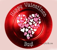 Valentine Vinyl Decal for Plate Charger or Glass Block *DECAL ONLY, Valentine's decor, on Etsy, $8.00