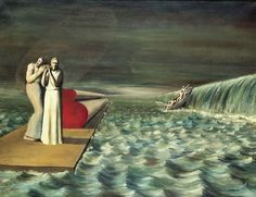 Wassernot (water crisis), 1933. Oil on Canvas | Edgar Ende | نقاشی سورئال از ادگار انده Francis Picabia, Alchemy Art, Surrealism Painting, Magritte, Environment Concept Art, Naive Art, Visionary Art, Psychedelic Art, Surreal Art