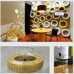 Home decor #RicicloCreativo #Pneumatici dismessi  SEGUICI SU: www.facebook.com/CreoEco www.pinterest.com/CreoEco