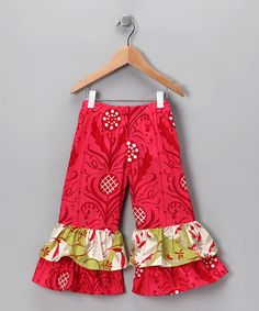 Take a look at this Holly Double Ruffle Pants - Infant, Toddler & Girls by Chatti Patti on #zulily today!
