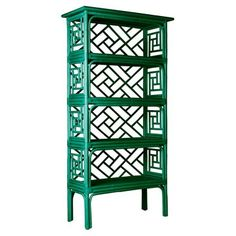 Check out this item at One Kings Lane! Chinese Chippendale Étagère, Emerald