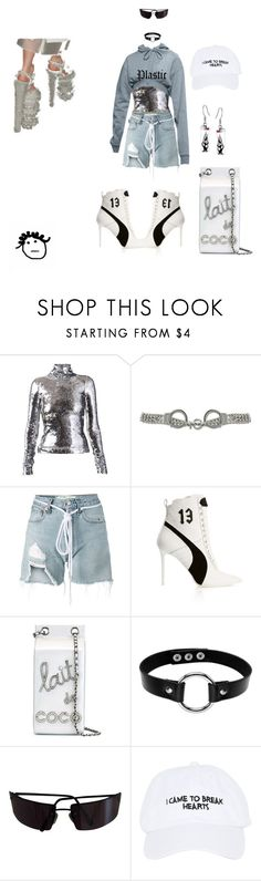 """Incognito"" by crushedrosepetals ❤ liked on Polyvore featuring Atto, Moschino, Off-White, Puma, Chanel, Dolce&Gabbana and Nasaseasons"