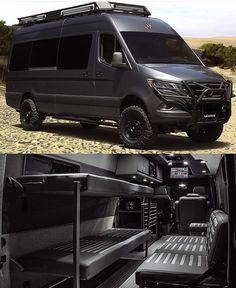 Mercedes Sprinter Camper Van, 4x4 Camper Van, Mercedes Van, Sprinter Van Conversion, Camper Van Conversion Diy, Bike Storage In Van, Ambulance, Ducato Camper, Custom Camper Vans