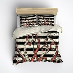 Octo Tentacle Stripe Bedding