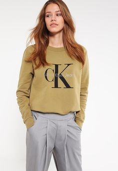 Calvin Klein Jeans TRUE ICON - Bluza - green - Zalando.pl
