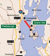 Grand Isle, VT - Plattsburgh, NY Ferry | Northern Crossing | 24/7 Service | Lake Champlain Ferries