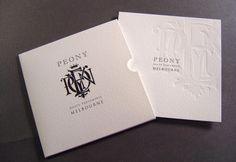 Peony Gift Certificate set – Envelope Offset printed and forme cut, Certificate Offset printed and Blind Letterpressed onto Bockingford 300gsm.