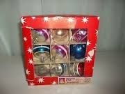 glass Christmas balls - vintage Woolworth's Dime Store Minneapolis