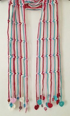 Lighthearted beaded crochet summer scarf di GabyCrochetCrafts