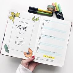 "366 Likes, 10 Comments - ROBERTA RANIERI (@qualcosadierre) on Instagram: ""Happy Easter and hello April! ✨ This is my new setup and you can find the Plan With Me video on my…"""