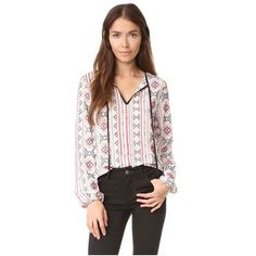 a645f75a84a42 ENGLISH FACTORY Embroidered Blouse ( 64) ❤ liked on Polyvore featuring tops
