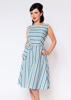 Heart of Haute sale rack — Monique Dress- Prague Stripe, S