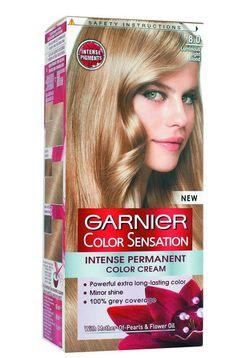 Garnier Paris Color Sensation cream hair dye in 8.0 Luminous Light Blonde #Garnier
