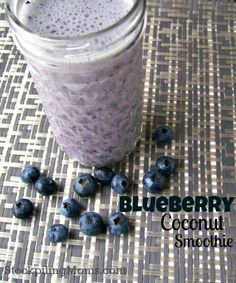 This delicious Blueberry Coconut Smoothie is Gluten Free and Paleo.  A great way to start your day!