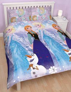 FROZEN ~ 'Crystal' Double/Queen Bed Reversible Quilt Set